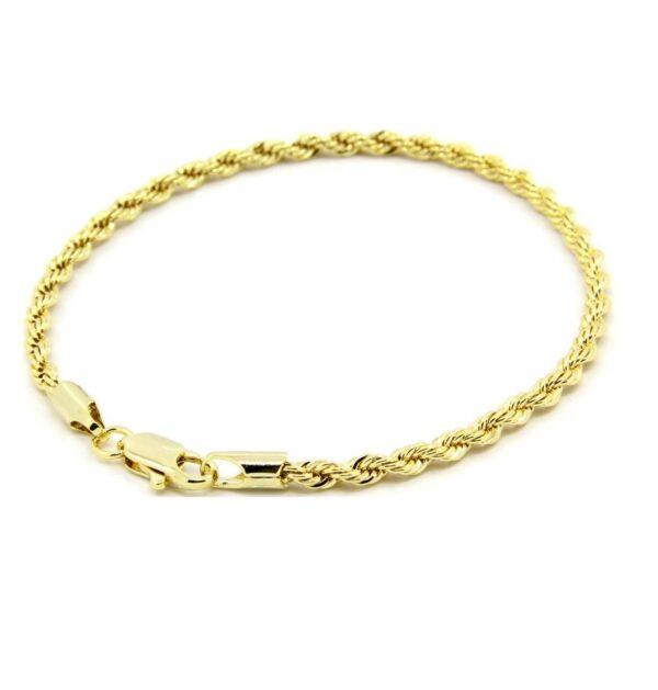 "24"" 3mm Fashion Dookie Rope Chain & Bracelet Jewelry Set"