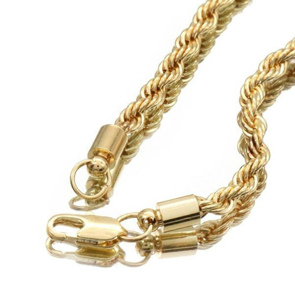 "NO CAP Fire Font Pendant With 4mm 24"" Rope Chain Necklace"