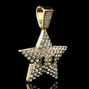 Fashion Icy Cartoon Star Pendant With 4mm 24