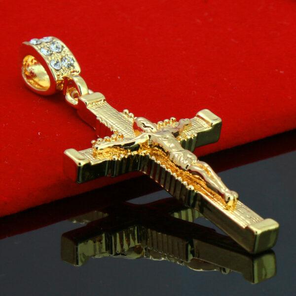 "Jesus Cross Crucifix Pendant With 18"" Rope Choker Chain"