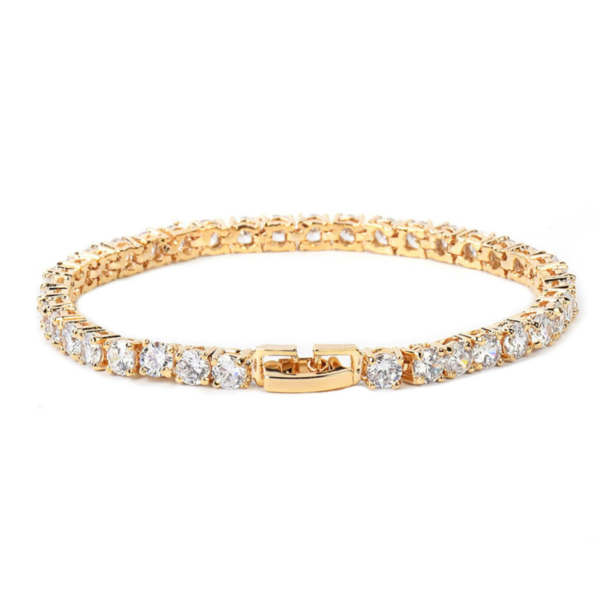 Shiny 3-5mm Iced AAA+ CZ Stones 18-20cm Tennis Chain Bracelet