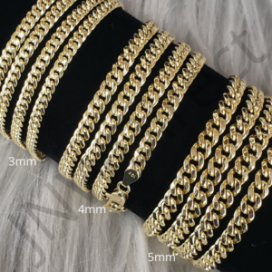 "10K Real Gold 3mm 4mm 5mm Real Miami Cuban Link Chain Choker Necklace 16""-30"""