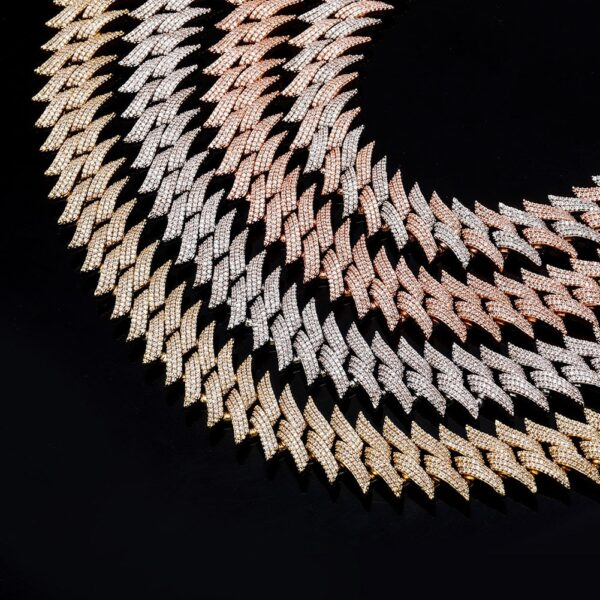 Heavy 20mm Thorns Cuban Link AAA+ CZ Stones Choker Necklace