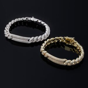 Men's Fashion Jewelry Iced Cuban Link Bracelet