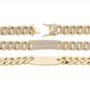 Men's Fashion Jewelry Iced Cuban Link Bracelet