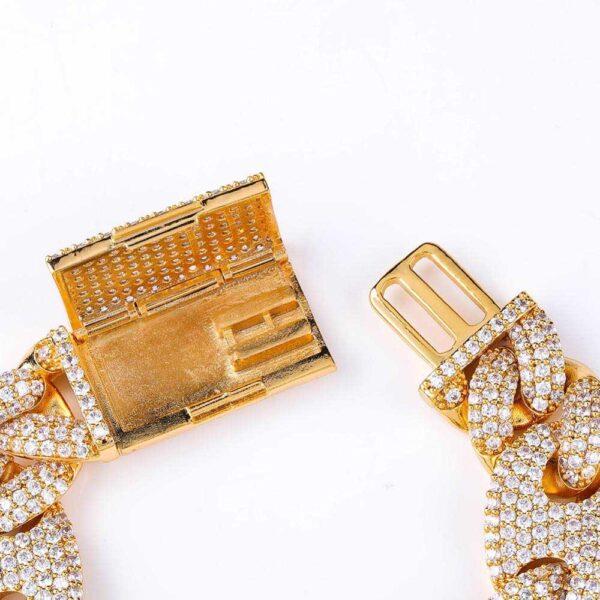 Men's AAA+ CZ Stone 20mm Lock Clasp Miami Cuban Link