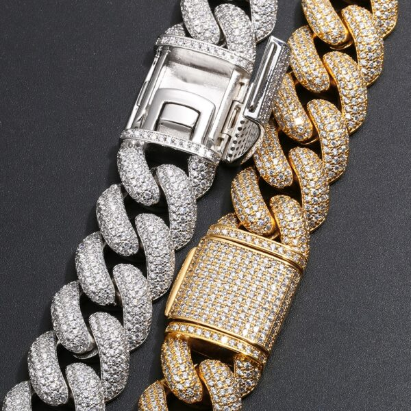 Men's 20mm AAA+ CZ Stone Micro-Pave Miami Cuban Link Choker Chain And Bracelet