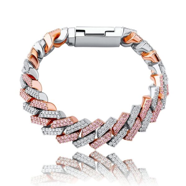 Iced Out AAA+ CZ Miami Cuban Link Bracelet Gold/Silver/Rose Gold/Silver Pink