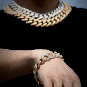 18mm Miami Cuban Link Choker Chain Or Bracelet With AAA+Cz Stones