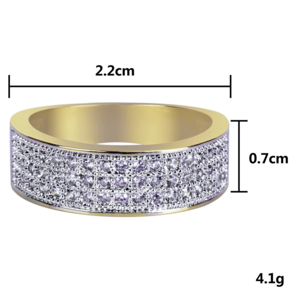 Round 7mm All Iced Women's Or Men's Engagement Wedding Ring