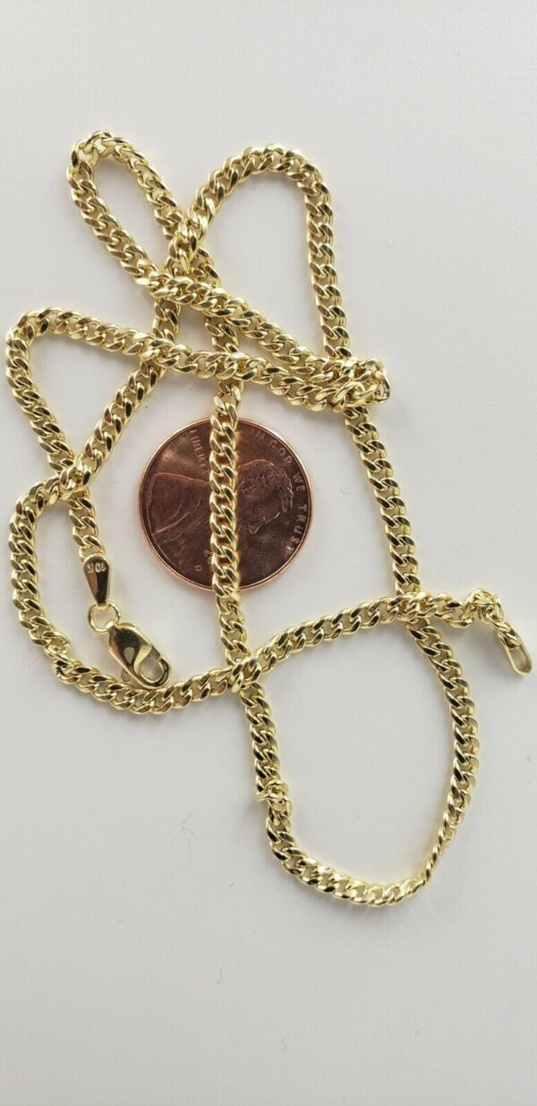 """10K Real Gold 3mm 4mm 5mm Real Miami Cuban Link Chain Choker Necklace 16""""-30"""""""