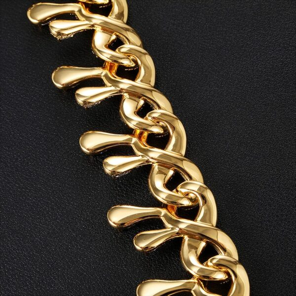 Drip Ice Miami Cuban Link 15MM AAA+ CZ Stones Choker Chain Necklace 14k Silver/Gold Plating