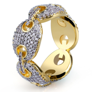 Mariner Gucci Chain Micro Pave AAA+ CZ Stones Bling Fashion Ring