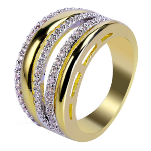 13mm New Style Fashion Jewelry Micro Pave AAA Stones Ring