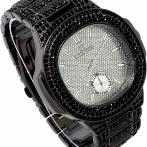 Men's Iced Black Lab Diamond Metal Fashion Luxury Watch