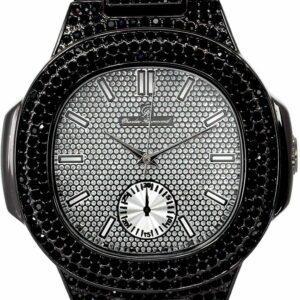 Men's Iced Black Lab Diamond Metal Fashion Luxury Watch