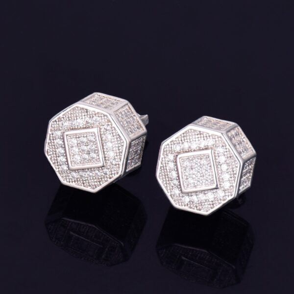 11MM Round Unisex AAA+ CZ Stone Screw Back Stud Earring
