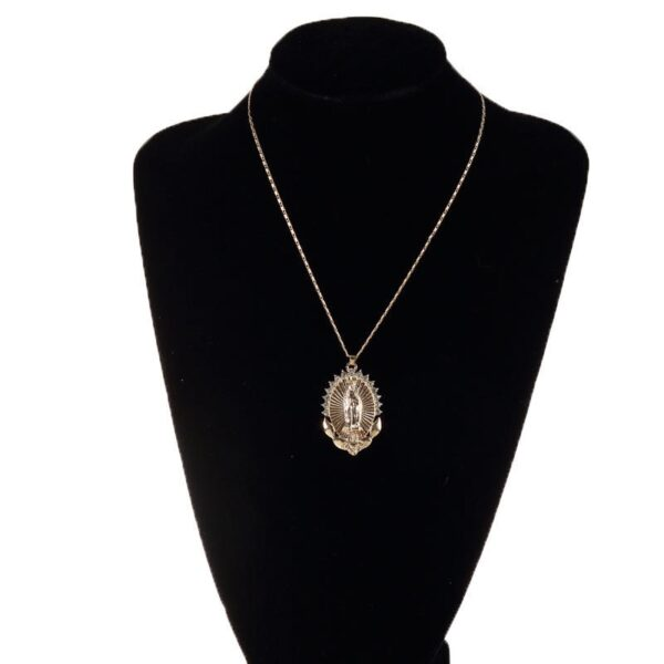 Holy Virgin Mary Charm AAA+ CZ Stones Pendant And Necklace Christian Jewelry