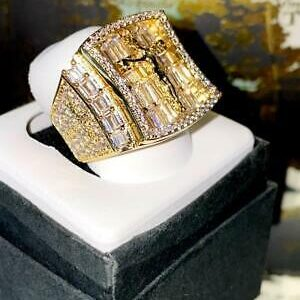 Men's Jesus Cross Iced Out 2.5ct AAA+CZ Pinky Ring Sizes 6-10