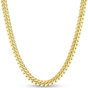 Unisex 18K Stainless Steel 4.5MM Miami Cuban Link Chain Necklace