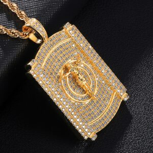 Jesus Christ AAA+CZ Flat Pendant With Rope Chain Or Cuban Link