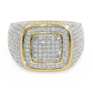 Men's All Iced AAA+CZ Bling Out Micro-Pave Stones Pinky Ring