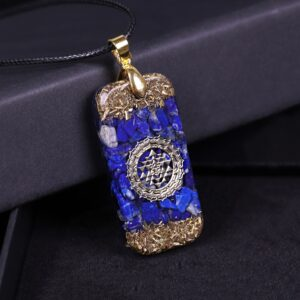 Lapis Lazuli Orgone Energy Pendant Natural Stones Necklace