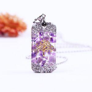 Women's Life Of Tree Healing Natural Crystal Reiki Energy Balance Orgonite Necklace