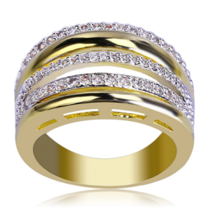 Women's 13mm Wedding Band Micro Pave AAA+ Stones Engagement Ring Anniversary Promise Rings