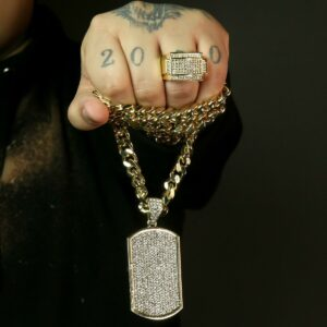 Men's Icy Pimp Pinky Ring Miami Cuban Link 30