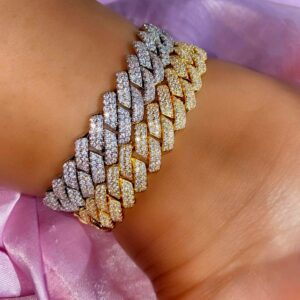 Women's Punk Miami 12mm Cuban Ankle Bracelet Iced Out AAA+ Cubic Zircon Stones Anklets