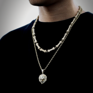 Men's Fully Iced Out Green Eyed Tiger Head Pendant, Cuban Link, Rope Chain Or Tennis Necklace Jewelry Set