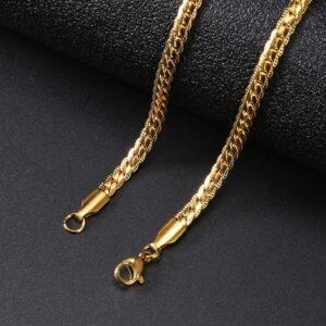Miami Flat Cuban Link 4mm Bracelet Stainless-Steel Gold/Silver/2Tone Bracelets