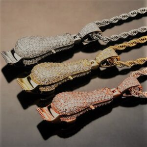 Barber Pendant Haircut Clippers Charm Barbers Jewelry Rope Chain Necklace