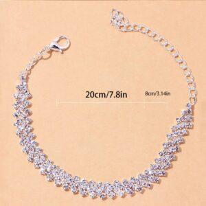Women Shiny Ankle Bracelet AAA+CZ Stones Anklet Chain Fashion Jewelry