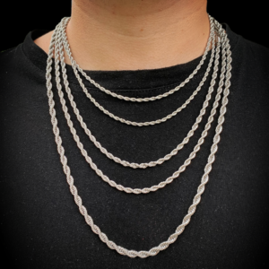 Men's Italian Twisted Rope Chain Women's Rope Necklace Or Bracelet Silver/Gold Colors