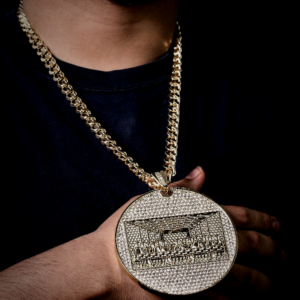 Men's Iced Out Huge Last Supper Pendant With 24