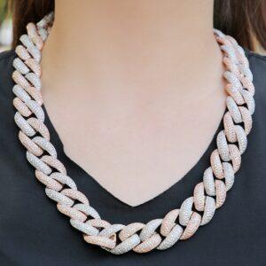 Miami Cuban Link Choker Necklace AAA+CZ Stones Hip Hop Punk Rock Fashion Jewelry