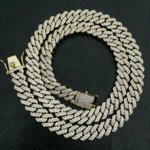 Heavy 12mm AAA+ Iced Miami Cuban Link Chain Stainless Steel