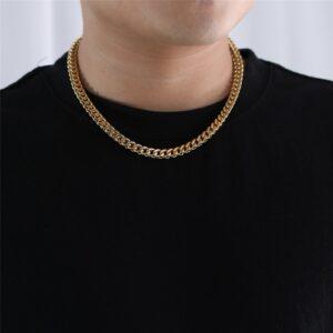 Men's 6mm 14k Steel Franco Chain Women's Franco Choker Chain Hip Hop Jewelry