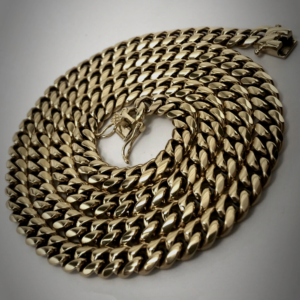 Miami Cuban Link Chain Necklace 14k Stamped Stainless Steel