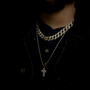 Mini Iced Out Jesus Cross Charm With 24